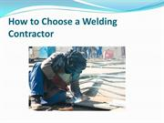 How to Choose a Welding Contractor