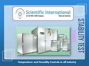Types of Temperature and Humidity controlled Stability Test Chambers i