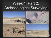 Week 4, Part 2 Surveying