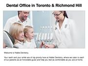 Root Canal SpecialistDental Office in Toronto & Richmond Hill