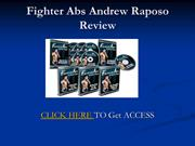 Fighter Abs 2.0 Andrew Raposo Review
