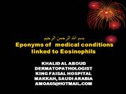 Slides Albums of Eponyms of  medical conditions linked to Eosinophils
