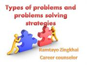 Types of problems and problems solving strategies