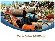 how to reduce solid waste