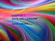 CHAPTER 7 GAYS AND LESBIANS