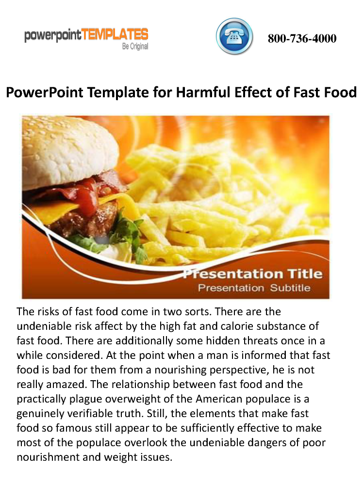 Powerpoint Template For Harmful Effect Of Fast Food Authorstream