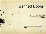 Banned Books: Greatest Hits of 20th C.