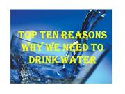 Why we need to drink water?