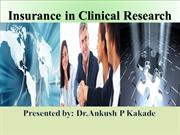 Insurance in clinical research