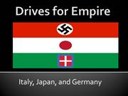 Drives for Empire