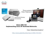 Cisco CCNP 300-115 Dumps