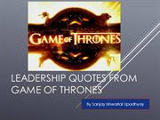 Leadership Quotes from Game of Thrones