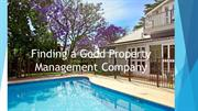 Finding a Good Property Management Company