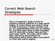 Correct Web Search Strategies