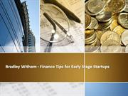 Bradley Witham - Finance Tips for Early Stage Startups