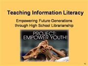 Teaching Information Literacy Presentati