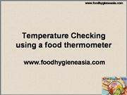 Temperature Checking using a food thermo