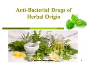Anti bacterial drugs of herbal origin