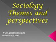 Sociology themes and perspectives PPT