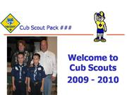 Welcome to our Cub Scout Pack