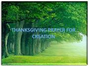 creation prayer