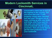 Cincinnati Modern Auto lock-out locksmith services