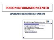 POISON INFORMATION CENTER