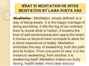 What is Meditation or Inter Meditation By Lama