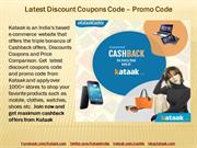 Latest Promo Code - Discount Coupon Codes Offers at Kataak