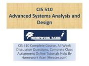 CIS 510 Strayer - Advanced Systems Analysis And Design