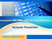 Account Transaction-eresource 3GL ERP(ERP for transportation)