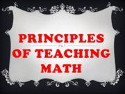 Principle Of teaching math