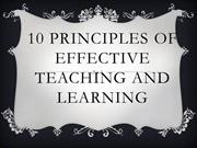 Twelve Principles of Effective Teaching and Learning