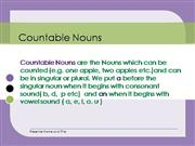 Countable/uncountable/quantifier