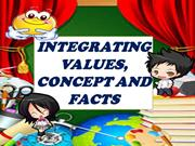 integrating values concepts facts