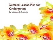 Detailed Lesson Plan for Kindergarten