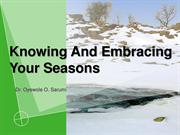 Knowing And Embracing Your Seasons