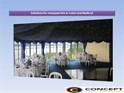 Solutions for marquee hire in Luton-Bedford