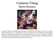 Cameron Chung Sports Business