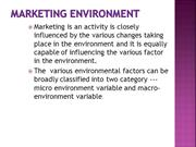 Marketing environment  -2