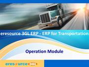 Operation Module- eresource 3GL ERP(ERP for transportation)
