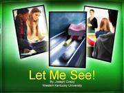Letr Me See-Visual Learning.