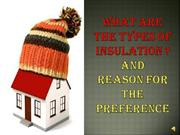 What are the types of insulation