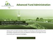 AFA  is a leading name in all types of Fund Administration Services