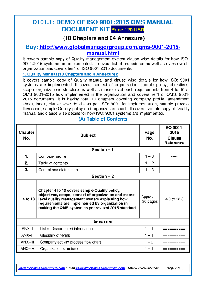 Iso 90012015 qms manual authorstream iso 90012015 qms manual publicscrutiny Gallery