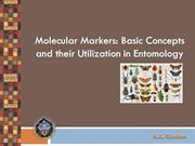 Molecular Markers  for Entomology