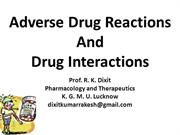 General Pharmacology_ADRs_Prof. R. K. Dixit