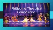 Philippine Theatrical Composition