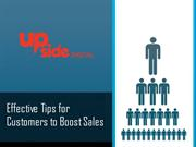 Effective tips for customers to boost sale
