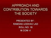 APPROACH AND CONTRIBUTION TOWARDS THE SO